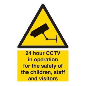 24 Hour CCTV In Operation School - Portrait