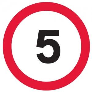 5 MPH Symbol - Square