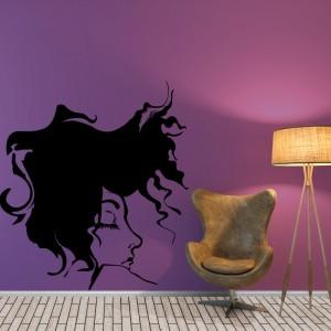 Abstract women portrait, face, modern - Living Room Vinyl Wall Art