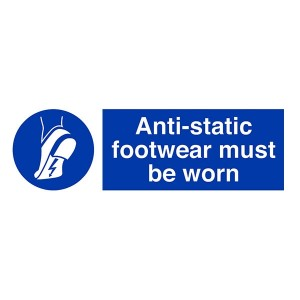 Anti-Static Footwear Must Be Worn - Landscape