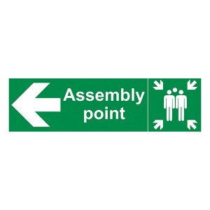 Assembly Point - Arrow Left - Landscape