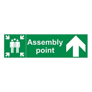 Assembly Point - Arrow Up - Landscape