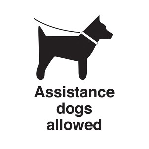 Assistance Dogs Allowed - Portrait