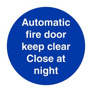 Automatic Fire Door Close At Night - Square