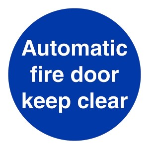 Automatic Fire Door Keep Clear - Square