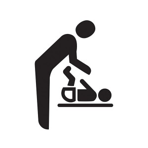 Baby Changing Symbol - Square