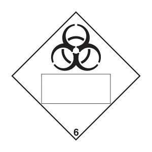 Bio Hazard 6 UN Substance Numbering - Diamond - Square