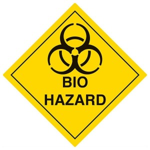Bio Hazard - Yellow - Diamond - Square