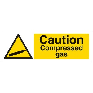 Caution Compressed Gas - Landscape
