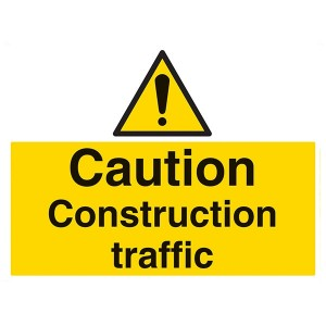 Caution Construction Traffic - Landscape - Large