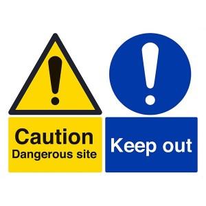 Caution Dangerous Site / Keep Out - Landscape - Large
