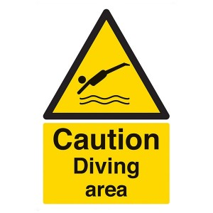 Caution Diving Area - Portrait