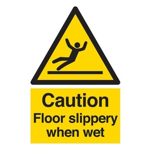 Caution Floor Slippery When Wet - Portrait