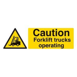 Caution Forklift Trucks Operating - Landscape