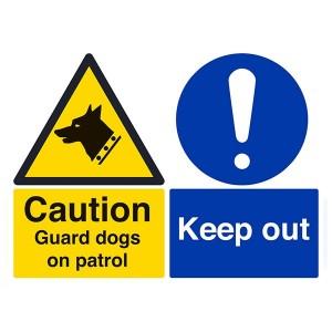 Caution Guard Dogs On Patrol - Landscape - Large