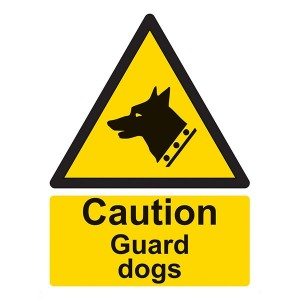 Caution Guard Dogs - Portrait