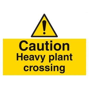 Caution Heavy Plant Crossing - Landscape - Large