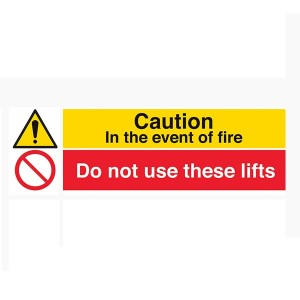 Caution In The Event Of Fire / Do Not Use These Lifts - Landscape