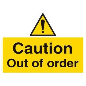 Caution Out Of Order - Landscape - Large