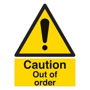 Caution Out Of Order - Portrait