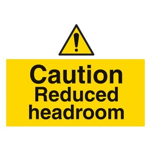 Caution Reduced Headroom - Landscape - Large