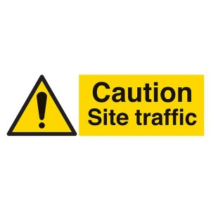 Caution Site Traffic - Landscape