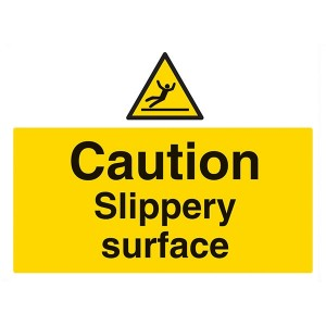 Caution Slippery Surface - Landscape - Large