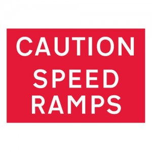 Caution Speed Ramps - Landscape - Large