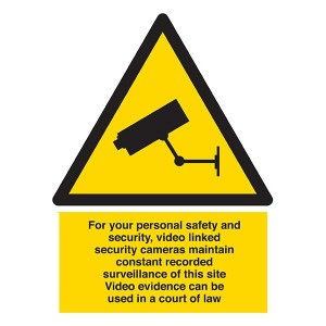 CCTV - For Your Personal Safety And Security  - Portrait