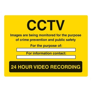 CCTV Images Are Being Monitored For The Purpose Of Crime Prevention - Landscape - Large