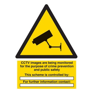 CCTV - Images Are Being Monitored For Crime Prevention - Portrait