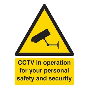 CCTV In Operation For Your Personal Safety And Security - Portrait