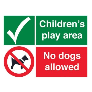 Childrens Play Area - No Dogs Allowed - Landscape - Large