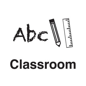 Classroom - ABC - Crayon And Ruler - Square