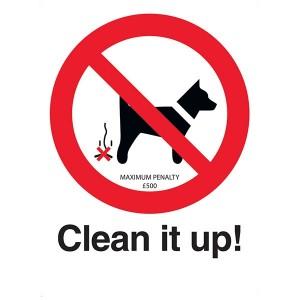 Clean It Up! Maximum Penalty £500 - Portrait