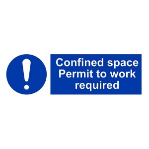 Confined Space Permit To Work Required - Landscape