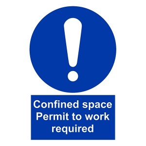 Confined Space Permit To Work Required - Portrait