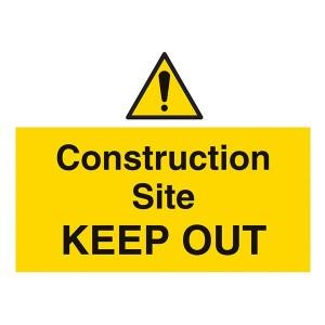 Construction Site Keep Out - Landscape - Large