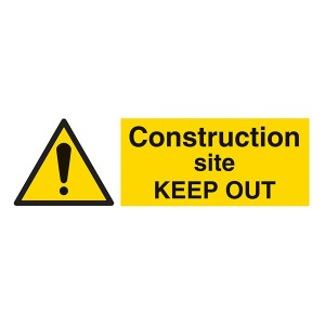 Construction Site KEEP OUT - Landscape