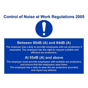 Control Of Noise At Work Regulations 2005 - Landscape - Large