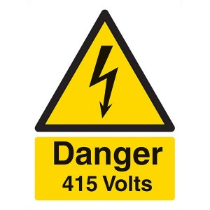 Danger 415 Volts - Portrait