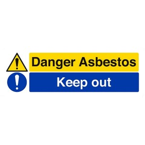 Danger Asbestos / Keep Out - Landscape