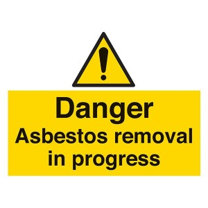 Danger Asbestos Removal In Progress - Landscape - Large