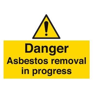 Danger Asbestos Removal In Progress - Landscape - Large