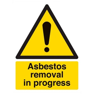 Danger Asbestos Removal In Progress - Portrait