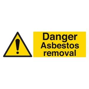 Danger Asbestos Removal - Landscape