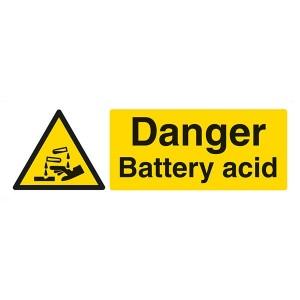 Danger Battery Acid - Landscape