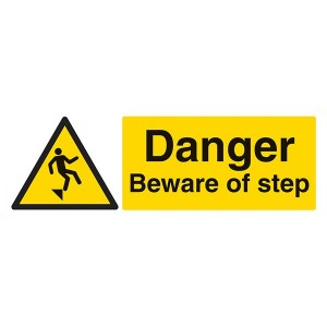 Danger Beware Of Step - Landscape