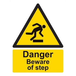 Danger Beware Of Step - Portrait