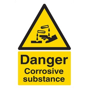 Danger Corrosive Substance - Portrait